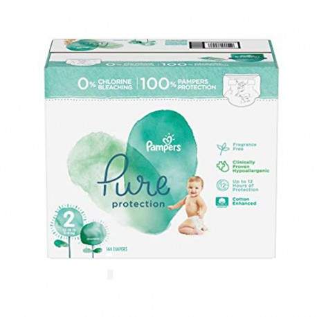 Maxi mega pack 405 Couches Pampers Pure Protection taille 2 sur 123 Couches