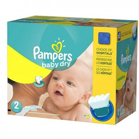 Mega pack 138 Couches Pampers Baby Dry taille 2 sur 123 Couches