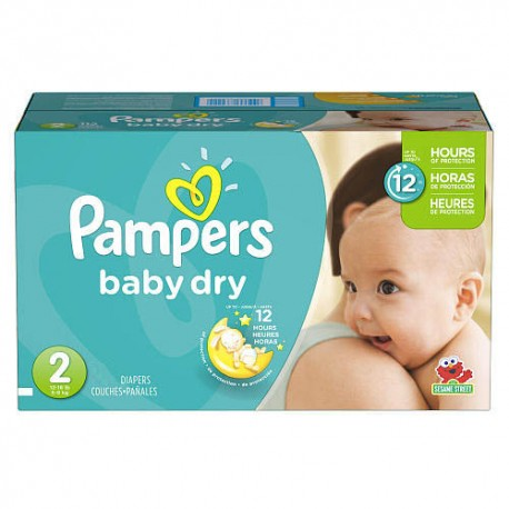 Giga pack 276 Couches Pampers Baby Dry taille 2 sur 123 Couches