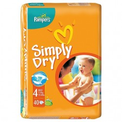 40 Couches Pampers Simply Dry sur 123 Couches