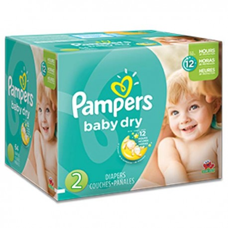 Maxi giga pack 368 Couches Pampers Baby Dry taille 2 sur 123 Couches
