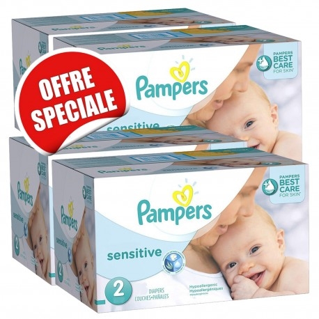 Giga pack 240 Couches Pampers New Baby Sensitive taille 2 sur 123 Couches