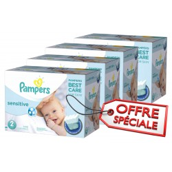 300 300 Couches Pampers New Baby Sensitive taille 2 sur 123 Couches