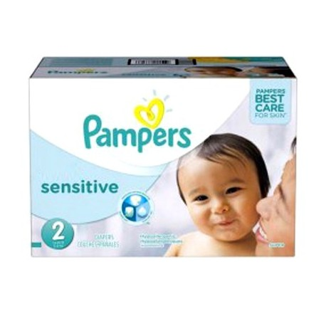 Maxi mega pack 480 Couches Pampers New Baby Sensitive taille 2 sur 123 Couches