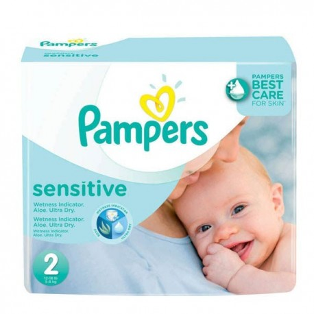 600 Couches Pampers New Baby Sensitive taille 2 sur 123 Couches