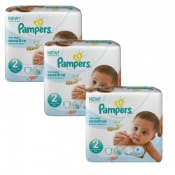 660 Couches Pampers New Baby Sensitive taille 2 sur 123 Couches