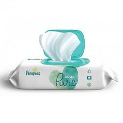 Pack 48 Lingettes Bébés Pampers Aqua Pure sur 123 Couches