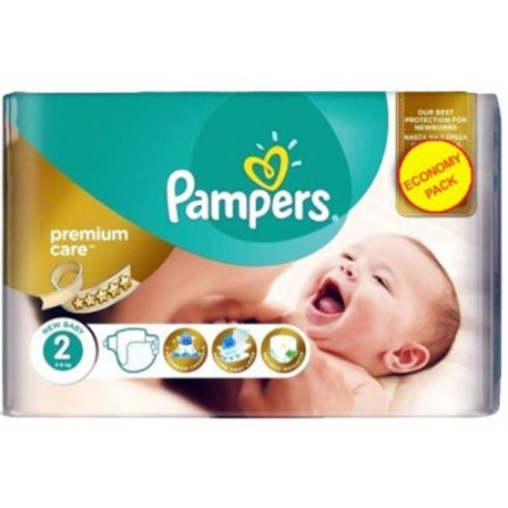 Pack 22 Couches Pampers New Baby Premium Care taille 2 sur 123 Couches