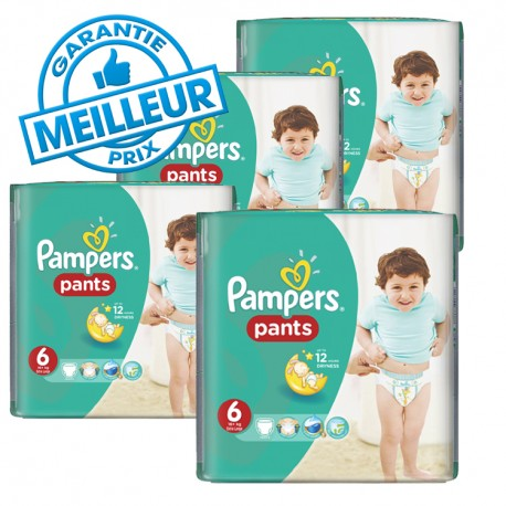 Pack 42 Couches Pampers Baby Dry Pants taille 6 sur 123 Couches