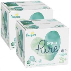 192 Lingettes Bébés Pampers Aqua Pure sur 123 Couches