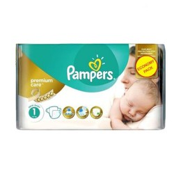 22 Couches Pampers New Baby Premium Care taille 1 sur 123 Couches