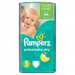 11 Couches Pampers Active Baby Dry taille 5 sur 123 Couches