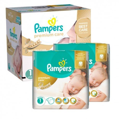 88 Couches Pampers New Baby Premium Care taille 1 sur 123 Couches