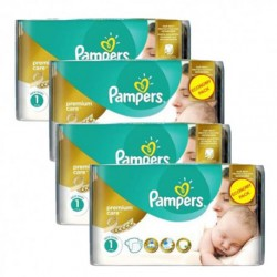110 Couches Pampers New Baby Premium Care taille 1 sur 123 Couches