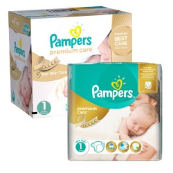 154 Couches Pampers New Baby Premium Care taille 1 sur 123 Couches