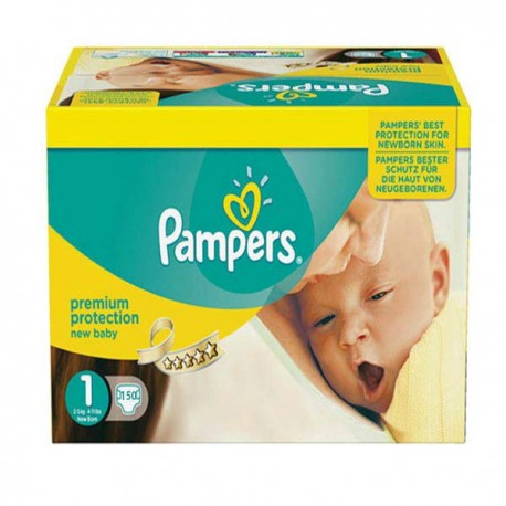Mega pack 144 Couches Pampers New Baby Premium Protection taille 1 sur 123 Couches