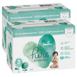 Mega pack 132 Couches Pampers Pure Protection taille 3 sur 123 Couches