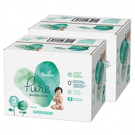 Mega pack 154 Couches Pampers Pure Protection taille 3 sur 123 Couches