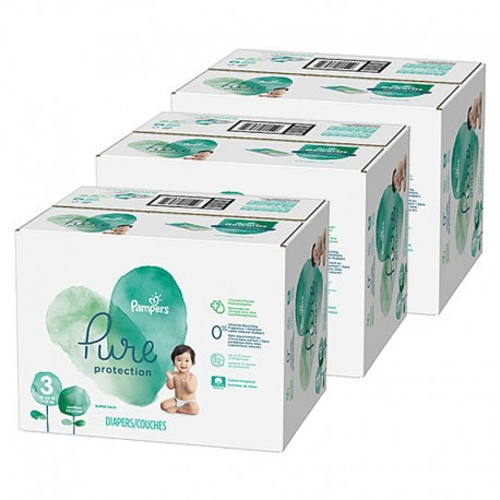 Mega pack 176 Couches Pampers Pure Protection taille 3 sur 123 Couches