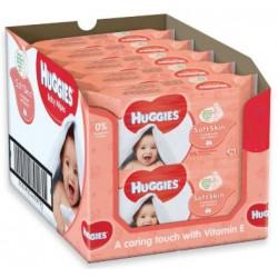 Maxi giga pack 392 Lingettes Bébés Huggies Soft Skin sur 123 Couches