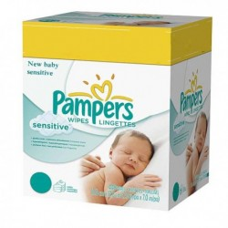 Mega pack 168 Lingettes Bébés Pampers New Baby Sensitive sur 123 Couches