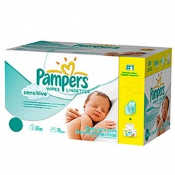 Maxi mega pack 448 Lingettes Bébés Pampers New Baby Sensitive sur 123 Couches