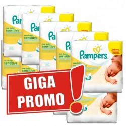 Pack jumeaux 504 Lingettes Bébés Pampers New Baby Sensitive sur 123 Couches