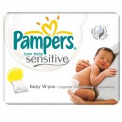 Pack jumeaux 840 Lingettes Bébés Pampers New Baby Sensitive sur 123 Couches