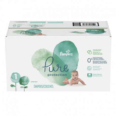 Mega pack 175 Couches Pampers Pure Protection taille 1 sur 123 Couches