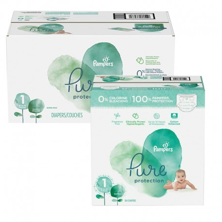 Giga pack 245 Couches Pampers Pure Protection taille 1 sur 123 Couches