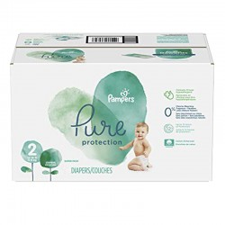 Pack 54 Couches Pampers Pure Protection taille 2 sur 123 Couches
