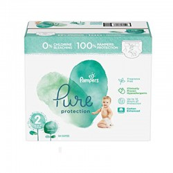 Pack 81 Couches Pampers Pure Protection taille 2 sur 123 Couches