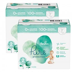 Mega pack 162 Couches Pampers Pure Protection taille 2 sur 123 Couches