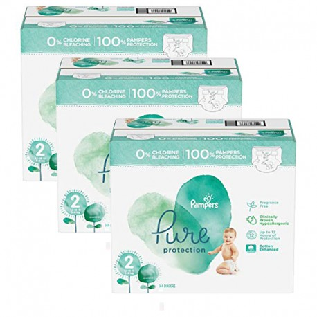 Mega pack 189 Couches Pampers Pure Protection taille 2 sur 123 Couches