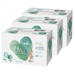Giga pack 270 Couches Pampers Pure Protection taille 2 sur 123 Couches