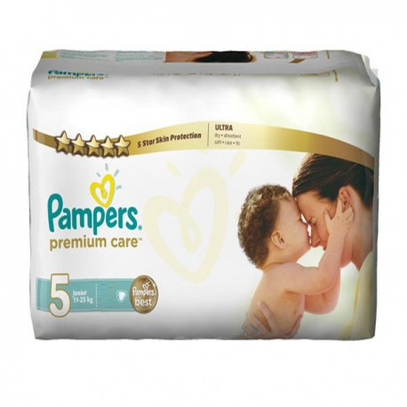 Pack 30 Couches Pampers Premium Care taille 5 sur 123 Couches