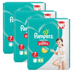 Pack 87 Couches Pampers Baby Dry Pants taille 7 sur 123 Couches