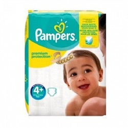 Pack 21 Couches Pampers New Baby Premium Protection taille 4+ sur 123 Couches