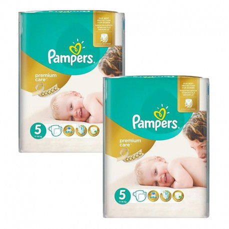 270 Couches Pampers Premium Care taille 5 sur 123 Couches
