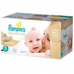 390 Couches Pampers Premium Care taille 5 sur 123 Couches