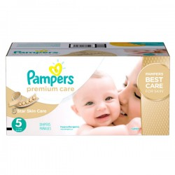 Maxi mega pack 420 Couches Pampers Premium Care taille 5 sur 123 Couches