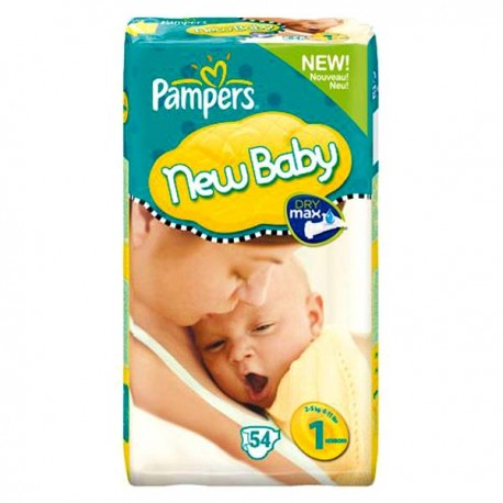 Pack 56 Couches Pampers New Baby Premium Protection taille 1 sur 123 Couches