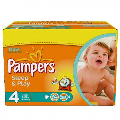 Mega pack 150 Couches Pampers Sleep & Play taille 4 sur 123 Couches