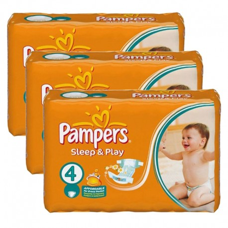 Giga pack 200 Couches Pampers Sleep & Play taille 4 sur 123 Couches
