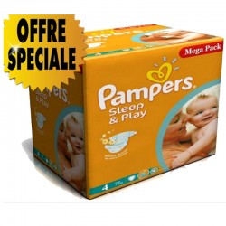 Maxi giga pack 300 Couches Pampers Sleep & Play taille 4 sur 123 Couches