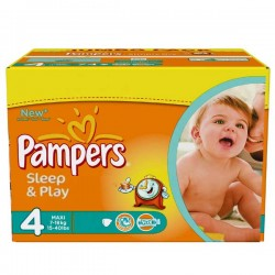 Maxi mega pack 450 Couches Pampers Sleep & Play taille 4 sur 123 Couches
