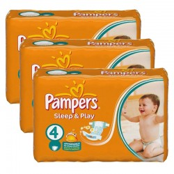 Mega pack 100 Couches Pampers Sleep & Play taille 4 sur 123 Couches