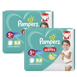 Giga pack 216 Couches Pampers Baby Dry Pants taille 5+ sur 123 Couches