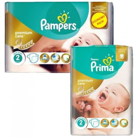 Mega pack 110 Couches Pampers New Baby Premium Care taille 2 sur 123 Couches