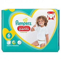 Pack 37 Couches Pampers Premium Protection Pants taille 6